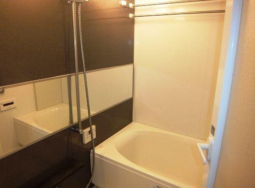 夫婦で愛用しているという、ミストサウナを備えた浴室。「土日の朝は、ミストサウナで汗をかくのが日課になりました」。