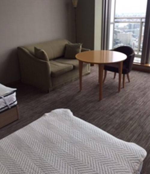 ゲストルームは友人を泊めてあげるのに活用。1泊1,500~2,000円+リネン代で利用できる。「ホテルより安く泊まれるので人気がありますね」。
