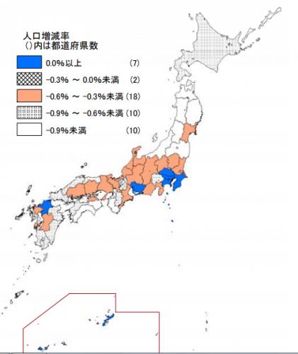 道府県 人口 都 日本